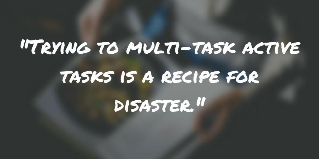 Multi-task productivity - spending done right
