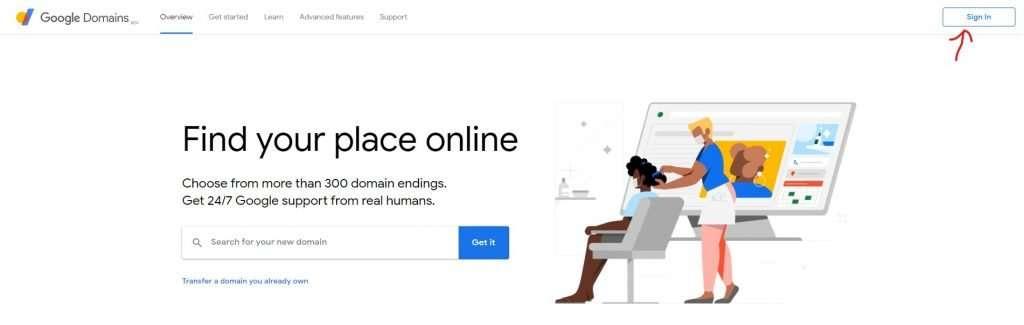 Login to Google Domains
