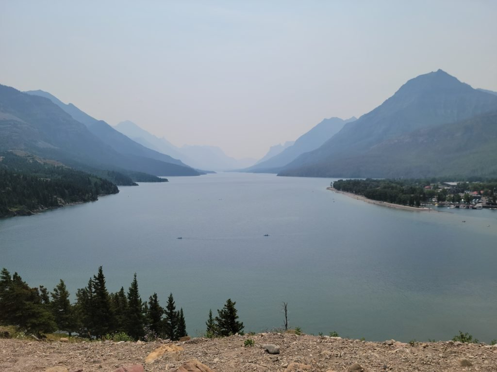 Waterton Lake View Through Smoke