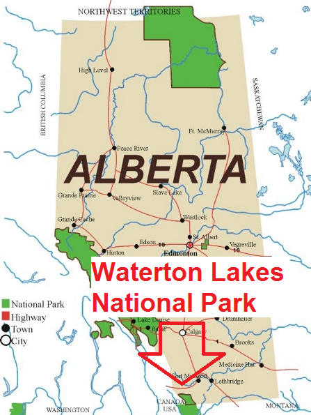 Waterton Lakes National Park Location Alberta
